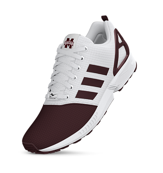 adidas mi Mississippi State ZX Flux Shoes